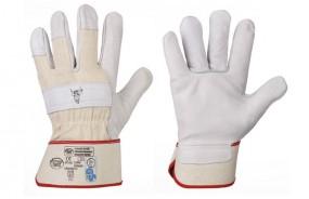 Rindvollleder-Handschuhe CLASSIC STIERKOPF Größe 10