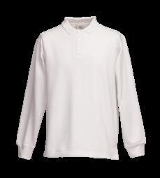Polo-Sweat-Shirt weiß