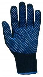 BW - Polyester- Mittelstrick- HS, einseitig blaue PVC- Noppen blau