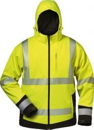 Warnschutz-Winter Softshell- Jacke mit Kapuze MELVIN