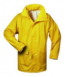 Regenschutzbekleidung-PU-Stretch-gelb