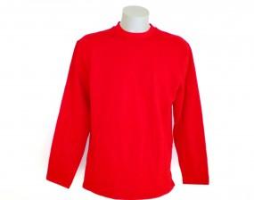 7066 B & C Open Hem Sweatshirt rot