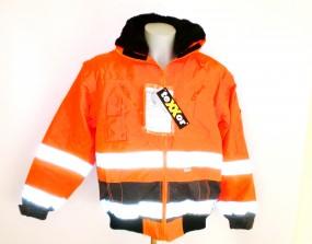 4107 Vancouver Warnschutzjacke- Pilotenjacke leuchtorange/grau
