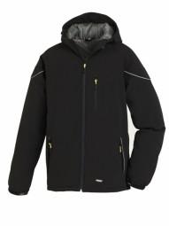 4138 Winter-Softshell-Jacke mit Reflexstreifen Schwarz