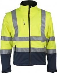 Prevent® Warnschutz-Softshell-Jacken - Farbe: gelb/blau